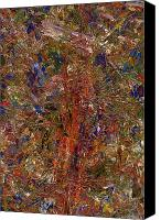 Abstract Tapestries Textiles Canvas Prints - Paint Number 25 Canvas Print by James W Johnson