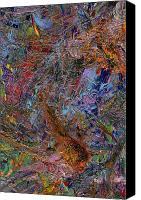Expressionism Canvas Prints - Paint Number 26 Canvas Print by James W Johnson