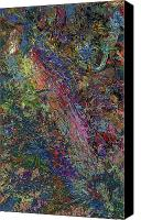 Textured Canvas Prints - Paint number 27 Canvas Print by James W Johnson
