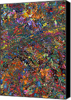 Dynamic Canvas Prints - Paint number 29 Canvas Print by James W Johnson