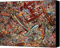 Expressionism Canvas Prints - Paint number 30 Canvas Print by James W Johnson