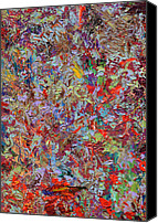 Expressionism Canvas Prints - Paint number 33 Canvas Print by James W Johnson