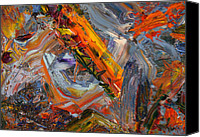 Expressionist Canvas Prints - Paint Number 44 Canvas Print by James W Johnson