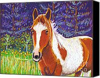Horses Pastels Canvas Prints - Paintchip Canvas Print by Harriet Peck Taylor