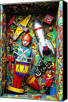 Pirate Canvas Prints - Painted box full of old toys Canvas Print by Garry Gay
