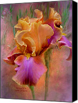 Floral Giclee Canvas Prints - Painted Goddess - Iris Canvas Print by Carol Cavalaris