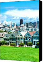 Painted Ladies Canvas Prints - Painted Ladies Canvas Print by Greg Fortier