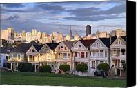 Painted Ladies Canvas Prints - Painted Ladies in SF California Canvas Print by Pierre Leclerc