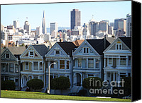 Tourism Mixed Media Canvas Prints - Painted Ladies Canvas Print by Linda Woods