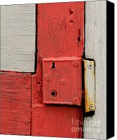 Potography Canvas Prints - Painted Lock Canvas Print by Perry Webster