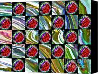 Quilt Pattern Canvas Prints - Painted Quilt Canvas Print by Gwyn Newcombe