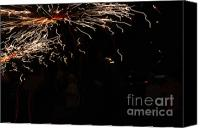 Pyrotechnics Canvas Prints - Painting Canvas Print by Agusti Pardo Rossello
