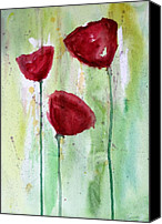 Pretty Flowers Canvas Prints - Painting Class Painting Canvas Print by Julie Lueders