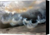 Extra 300 Canvas Prints - Painting With The Smoke Canvas Print by Angel  Tarantella