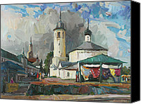 May Day Painting Canvas Prints - Paints of old Suzdal Canvas Print by Juliya Zhukova
