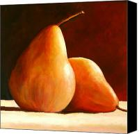 Original Canvas Prints - Pair of Pears Canvas Print by Toni Grote