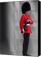 Buckingham Palace Digital Art Canvas Prints - Palace Guard Canvas Print by William Howard