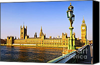 Lamppost Canvas Prints - Palace of Westminster from bridge Canvas Print by Elena Elisseeva