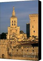 Worth Canvas Prints - Palais des Papes en Avignon. Canvas Print by Bernard Jaubert