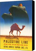 Camel Digital Art Canvas Prints - Palestine Line Canvas Print by Nomad Art And  Design