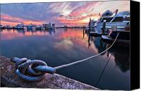 Florida Bridge Canvas Prints - Palm Beach Harbor Canvas Print by Debra and Dave Vanderlaan