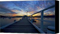 Sunset Canvas Prints - Palm Beach wharf at dusk Canvas Print by Sheila Smart