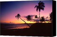 Puerto Rico Photo Canvas Prints - Palmas Del Mar Sunset Puerto Rico Canvas Print by George Oze