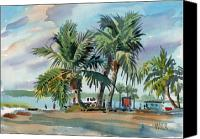 Plein Canvas Prints - Palms On Sanibel Canvas Print by Donald Maier