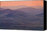 Dawn Canvas Prints - Palouse Morning From Steptoe Butte Canvas Print by Donald E. Hall