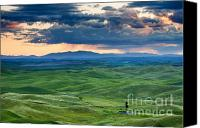 Storm Photo Canvas Prints - Palouse Storm Canvas Print by Mike  Dawson