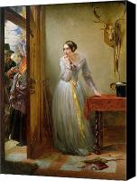 Scared Painting Canvas Prints - Palpitation Canvas Print by Charles West Cope