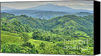 Rural Scenes Photo Canvas Prints - Panama Landscape Canvas Print by Heiko Koehrer-Wagner