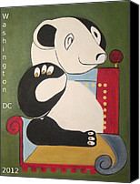 National Zoo Canvas Prints - Panda Picasso Canvas Print by Patricia Cleasby