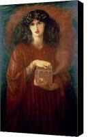 Ancient Greece Painting Canvas Prints - Pandora Canvas Print by Dante Charles Gabriel Rossetti