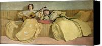 Singer Painting Canvas Prints - Panel for Music Room Canvas Print by John White Alexander