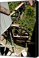 Old Mill Scenes Canvas Prints - Panning For Gold in Virginia City Nevada Canvas Print by LeeAnn McLaneGoetz McLaneGoetzStudioLLCcom