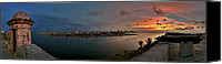 Editorial Canvas Prints - Panoramic view of Havana from La Cabana. Cuba Canvas Print by Juan Carlos Ferro Duque