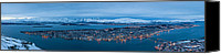 Snowy Night Canvas Prints - Panoramic view of Tromso in Norway  Canvas Print by Ulrich Schade