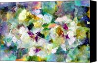 Art Appraisal Canvas Prints - Pansies Canvas Print by Don  Wright