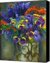 Susan Hanlon Canvas Prints - Pansies Canvas Print by Susan Hanlon