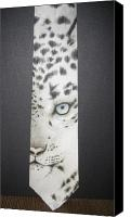 Winter Tapestries - Textiles Canvas Prints - Panthera Uncia Canvas Print by David Kelly