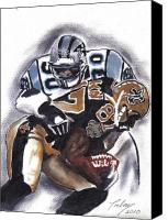 Sports Art Painting Canvas Prints - Panthers vs Saints Canvas Print by Torben Gray