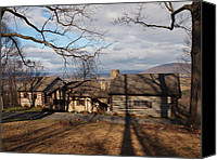 Farm In Woods Photographs Canvas Prints - Papa Toms Cabin In The Woods Canvas Print by Robert Margetts