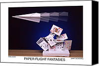 Sonic Canvas Prints - Paper Flight Fantasies - Sonic Boom Canvas Print by Jerry Taliaferro