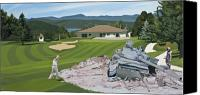 Golf Canvas Prints - Par 5 Canvas Print by Scott Listfield