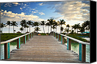 Beach Photograph Canvas Prints - Paradise Beach Tropical Palm Trees Islands Summer Vacation Canvas Print by Dave Allen