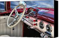 Custom Ford Digital Art Canvas Prints - Paradise By The Dashboard Light .... Canvas Print by Rat Rod Studios