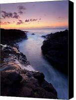 Beaches Canvas Prints - Paradise Falls Canvas Print by Mike  Dawson