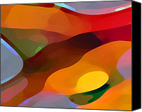 Abstract Art Canvas Prints - Paradise Found Canvas Print by Amy Vangsgard