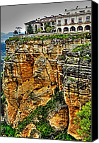 Ronda Canvas Prints - Parador Hotel Ronda - Andalusia Canvas Print by Juergen Weiss